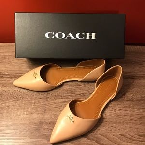 Coach Leather Pointed Flat Sz 8.5